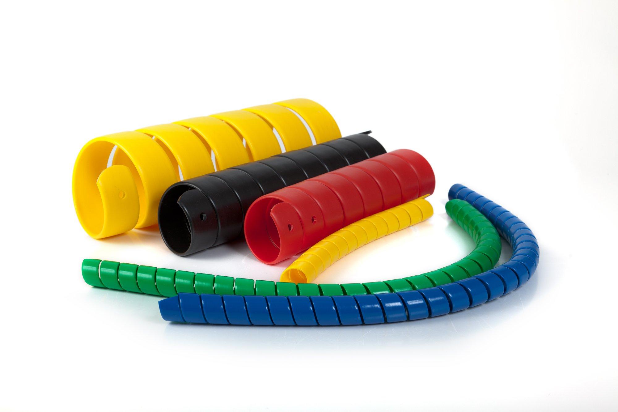Spiral Wrap Hose Protector, 3/4'' OD, 100' Length, Black by Safe-Spiral (Image #6)
