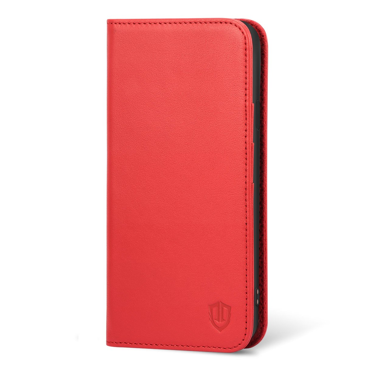 SHIELDON iPhone 6s Case, iPhone 6 Wallet Case, Genuine Leather Durable Wallet Flip Book Cover Design with Kickstand [ID Card Slot] [Magnetic Closure] for iPhone 6/6s - Red