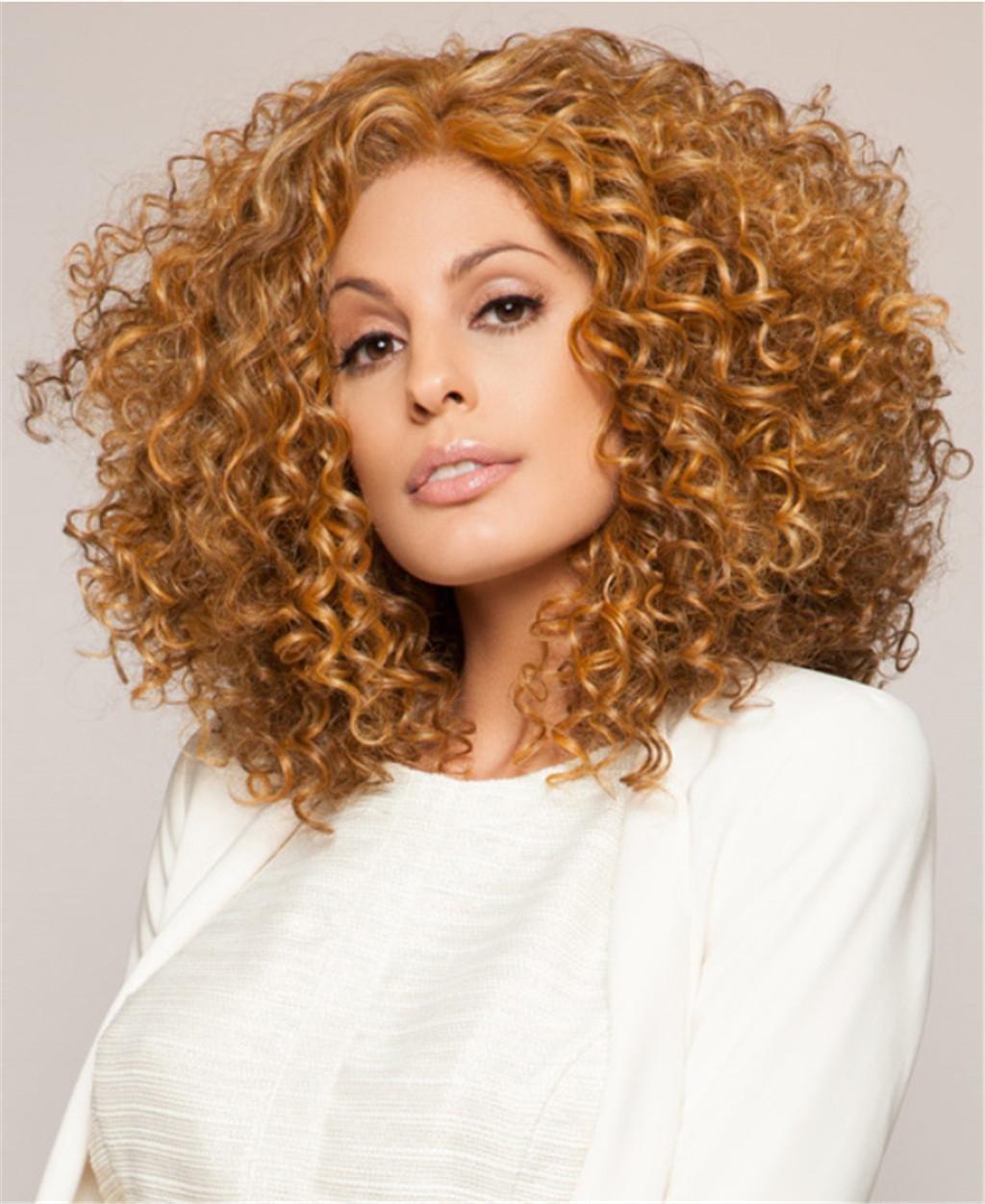 AN-LKYIQI Europa y la moda de Estados Unidos establece la peluca de pelo corto de moda de señora negro, gold