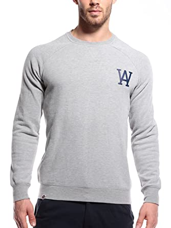 WOLDO Athletic Herren Sweatshirt Pullover Pulli Raglan Slim Fit  Amazon.de   Bekleidung 5a5983e8c2