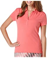 Pga Tour Womens Short-Sleeve Polo Shirt