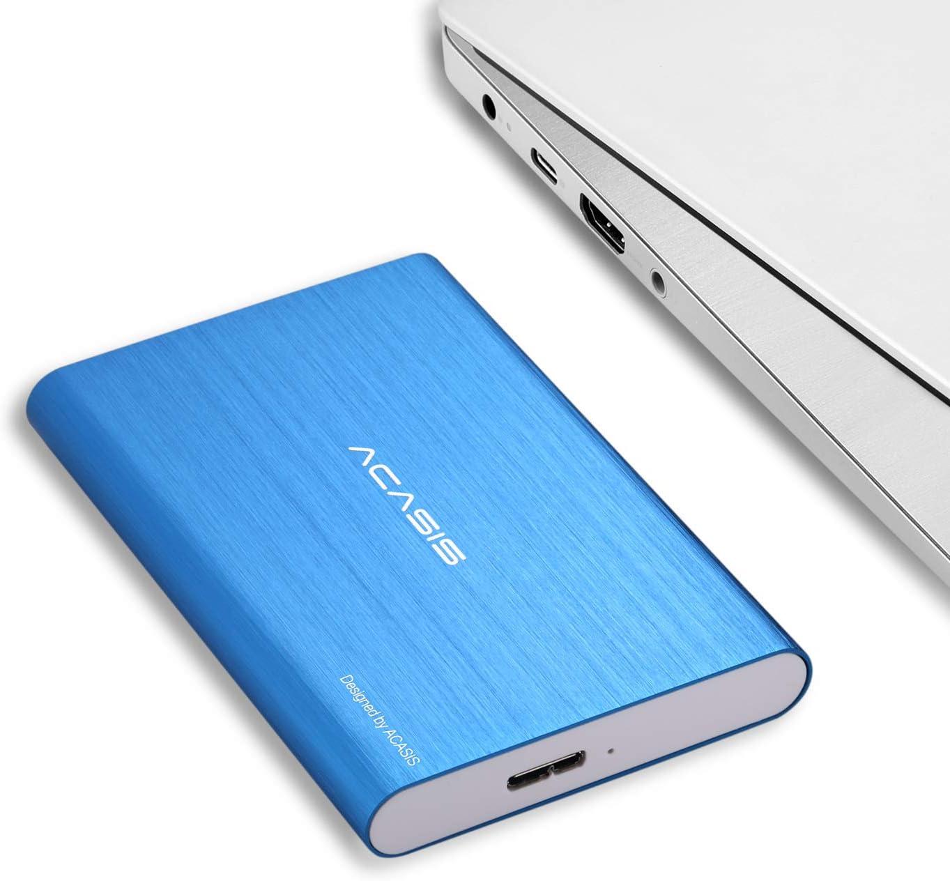 "HDD 2.5"" 120GB Portable External Hard Drive USB3.0 Hard Disk Storage Devices Desktop Laptop (Blue)"