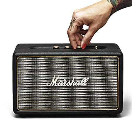 Marshall Stanmore Negro - Altavoces (Piso, Mesa/estante, Universal, Integrado, Negro, D, Alámbrico/Inalámbrico)