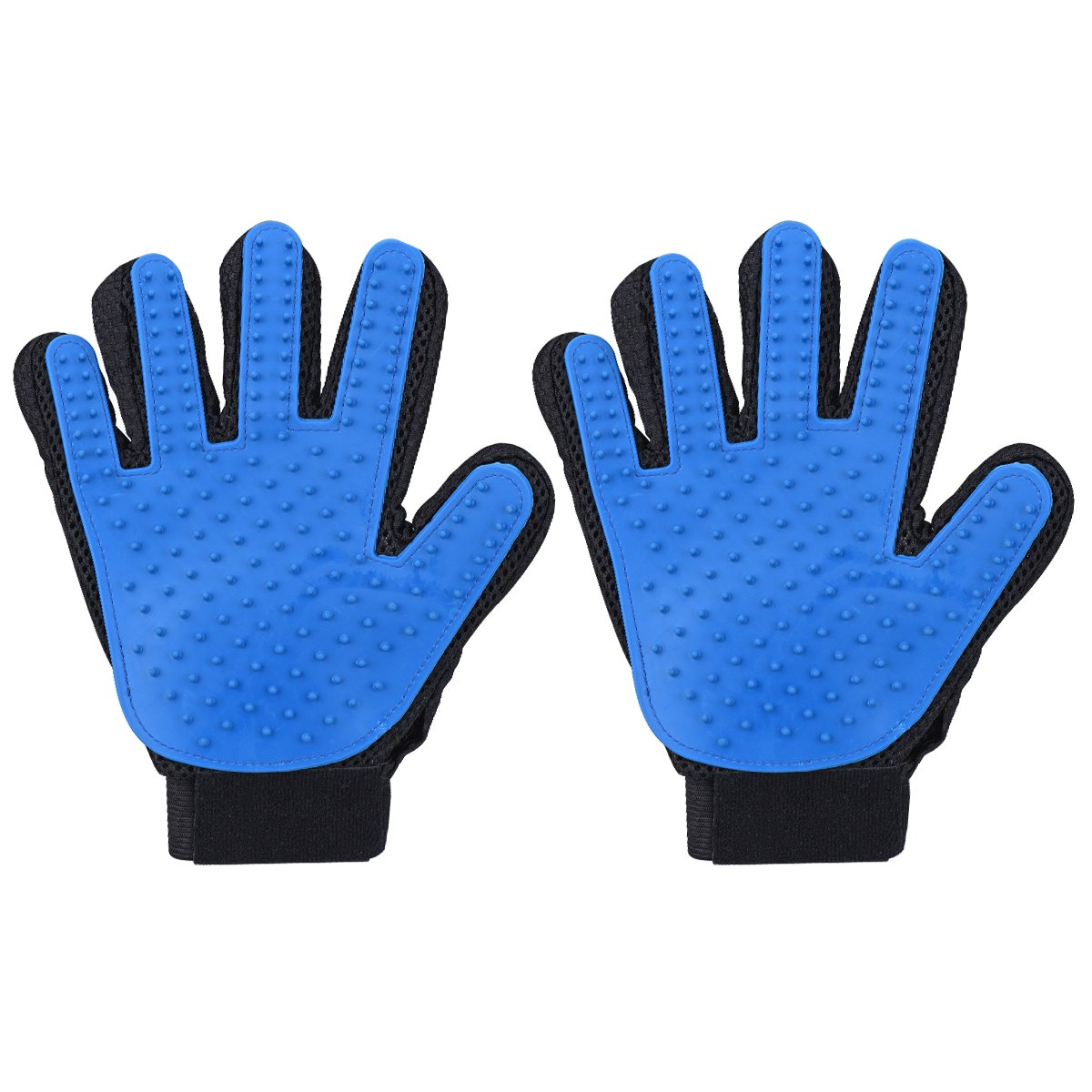 Cymas Pet Grooming Glove, Deshedding Brush Glove, Gentle Massaging Tool for Pets, for Cat or Dog with Long & Short Fur (Right-Handed Only, 2 Pack)