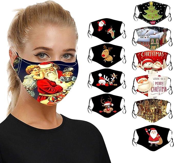 6 St/ück Unisex Fashion Print Bandana Mundschutz Wiederverwendbare und waschbare Mund und Nasenschutz Stoff