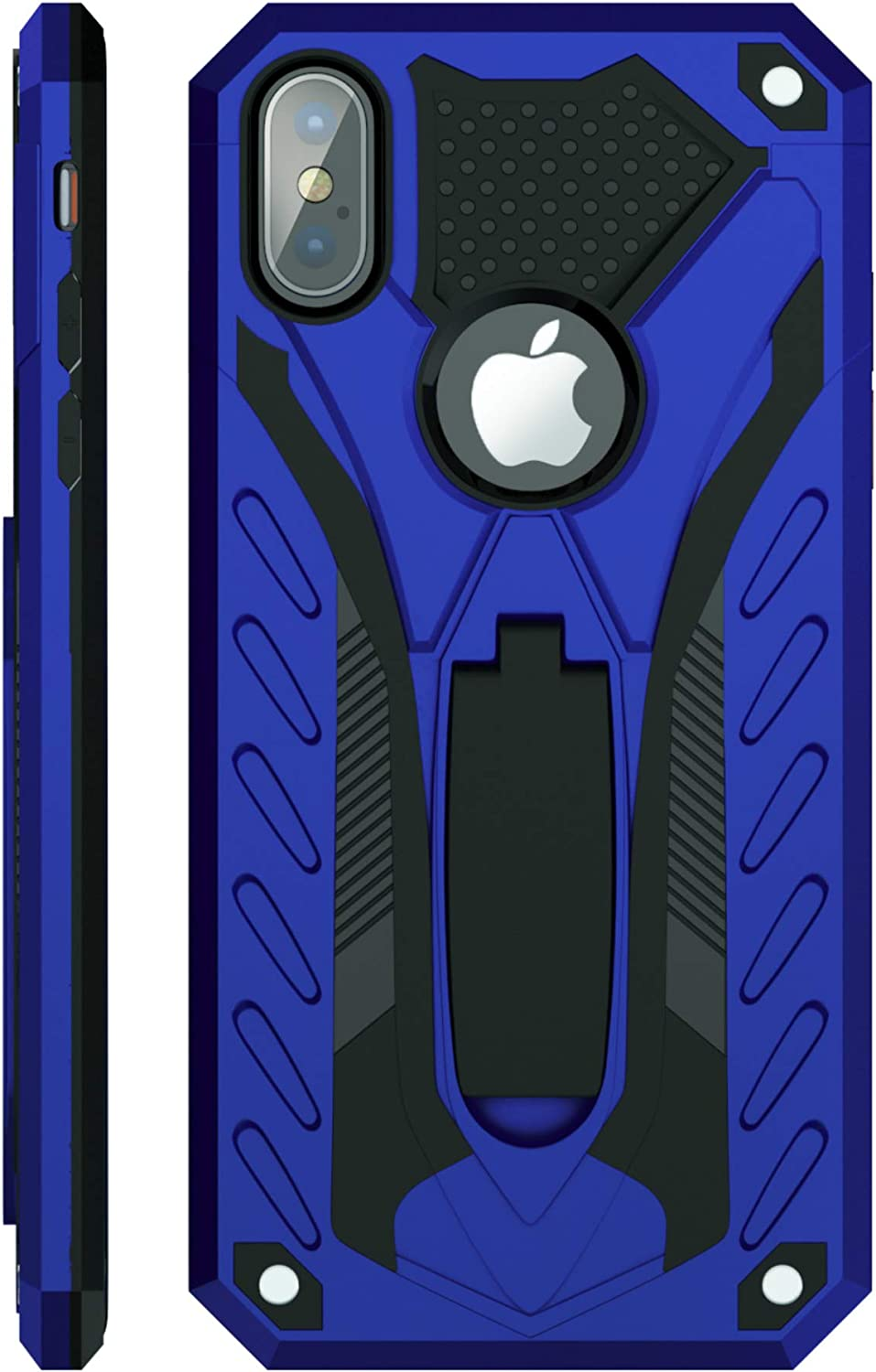 Kitoo Designed for iPhone X Case/Designed for iPhone Xs Case with Kickstand, Military Grade 12ft. Drop Tested - Blue