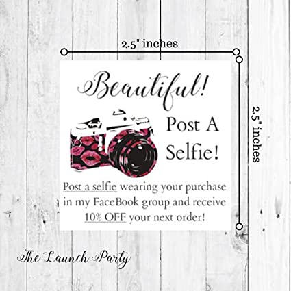 Amazon post a selfie business cards square 50 pk beautiful post a selfie business cards square 50 pk beautiful with lip print design colourmoves