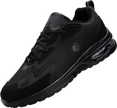 Fenlern Zapatillas de Seguridad Hombre Mujer Ligeras S1 Zapatos de Seguridad Trabajo Punta de Acero Calzado de Seguridad con Colchón de Aire