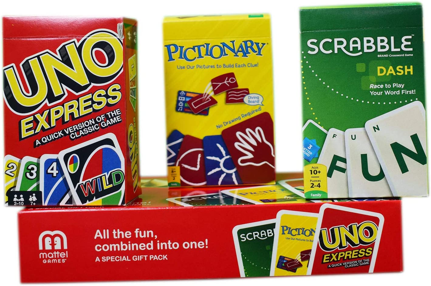 Myesha Toys Cards Gift Pack - Uno Express, Pictionary and Scarbble ...