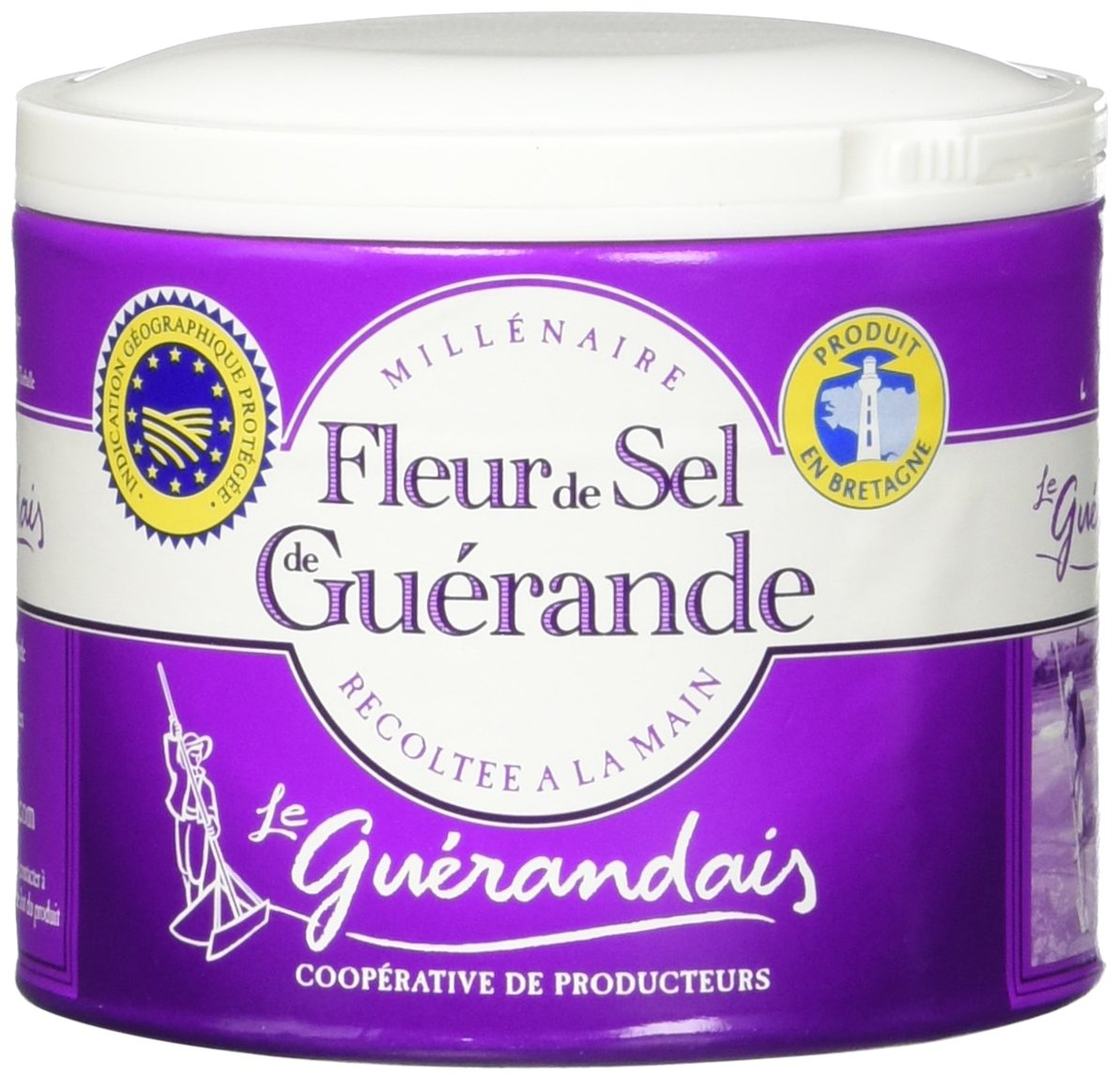 Amazon Com Guerande Fleur De Sel Sea Salt 4 4 Oz Pack Of 2