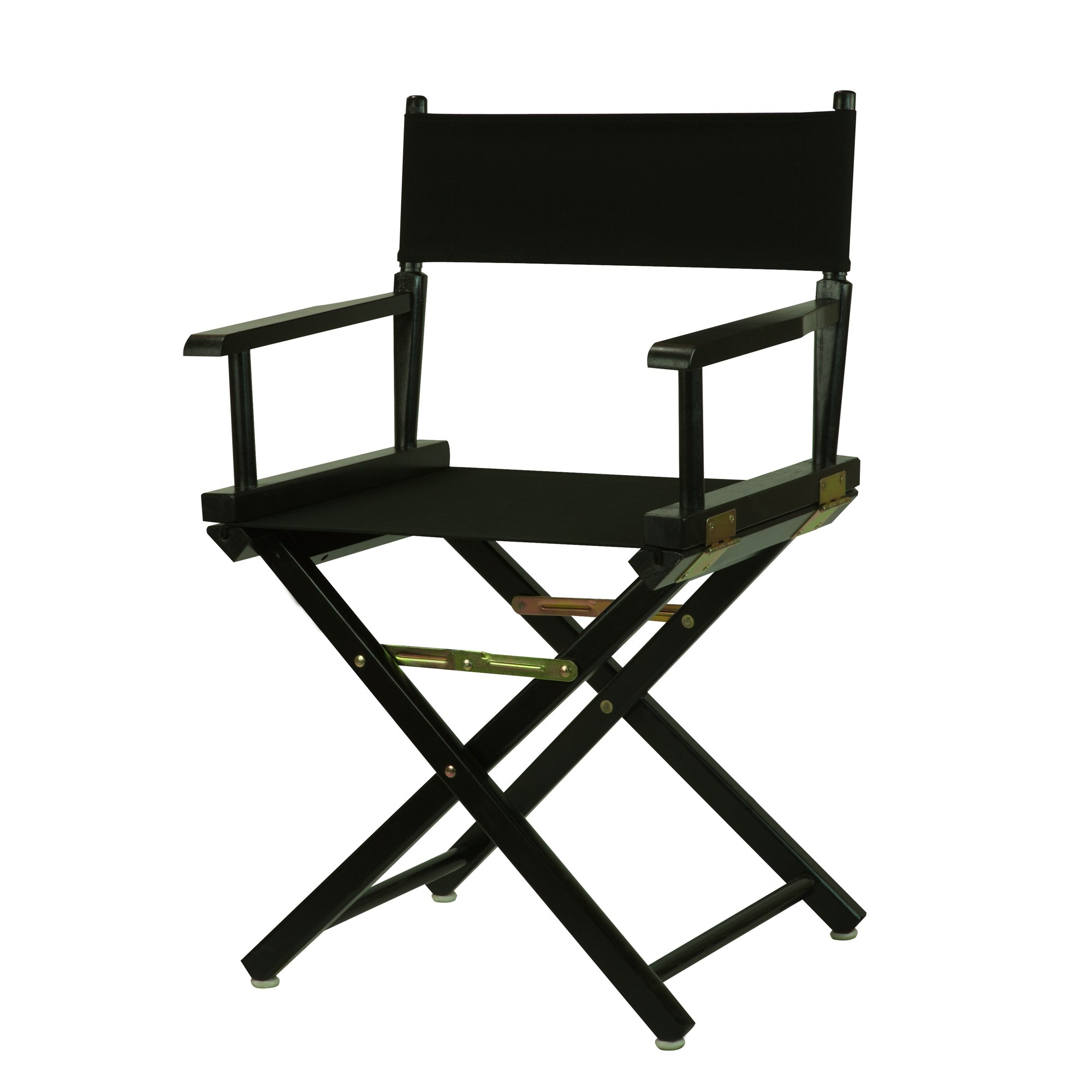 Casual Home 18'' Director's Chair Black Frame with Black Canvas