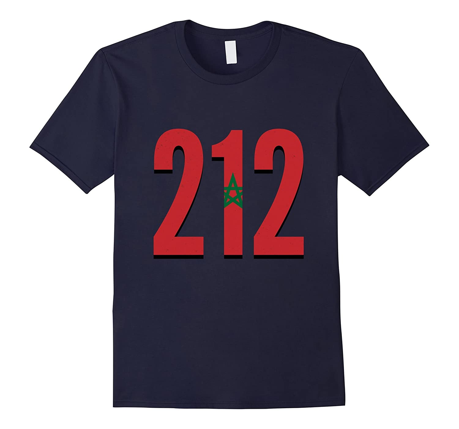 212 Morocco Pride Country Area Code Flag Moroccan T-Shirt-TH