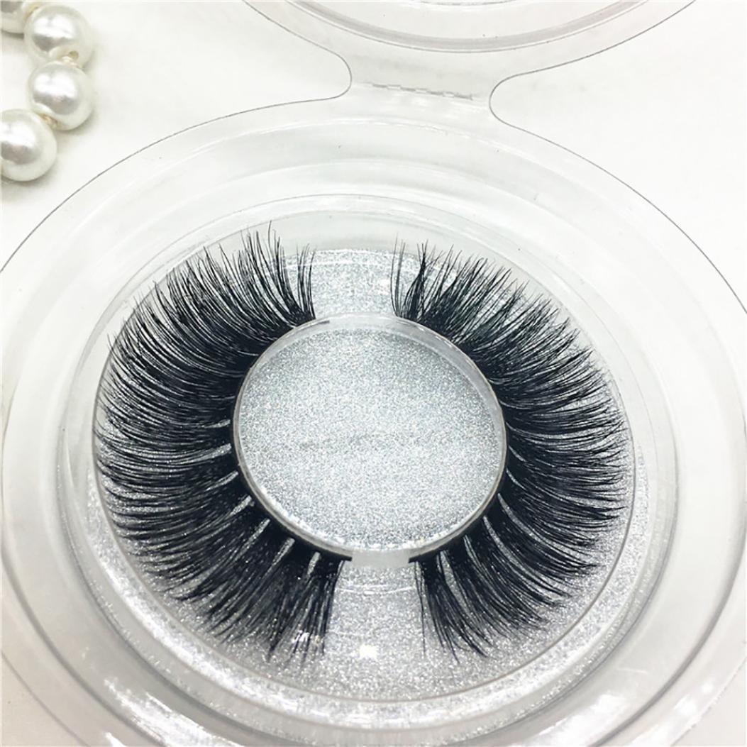 Amazon.com : YJYdada 1Pair Luxury 3D False Lashes Fluffy Strip Eyelashes Long Natural Party : Beauty