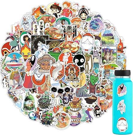 Hayao Miyazaki Anime Stickers Skateboard Vinyl Decals Laptop Car Sticker 50 Pcs