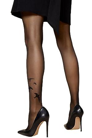 Fiore - Collant fantaisie à motif effet tatouage hirondelles 20 den   Amazon.fr  Vêtements et accessoires 34777186018