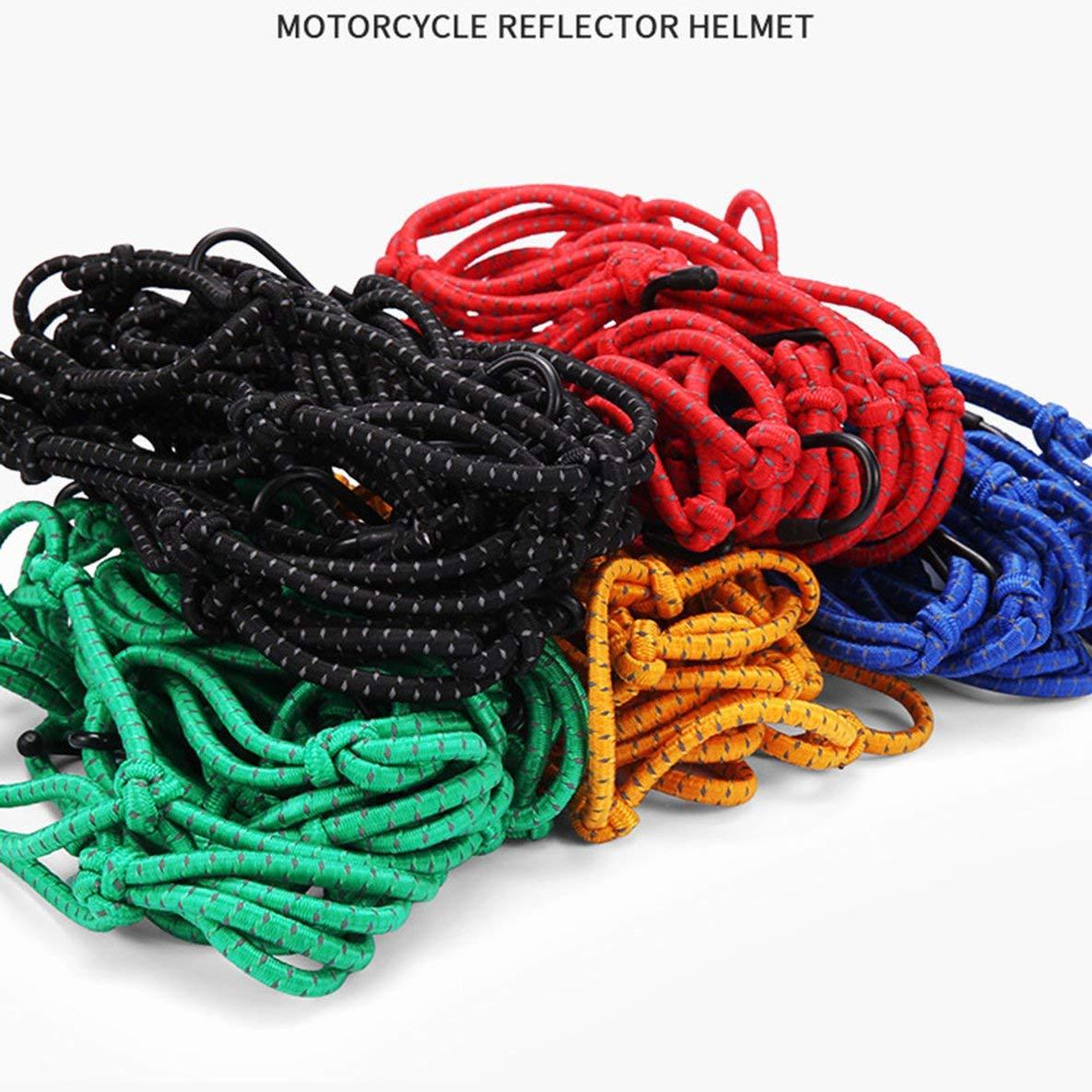 Noradtjcca Praktische Motorrad Kraftstofftank Dekoration String Tasche Gep/äcknetz Helmhalter Reflektierende Mesh Web Net 6 Haken 40x40 cm