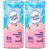 Crystal Light Pink Lemonade Drink Mix, 6 Count Canister (Pack of 2)