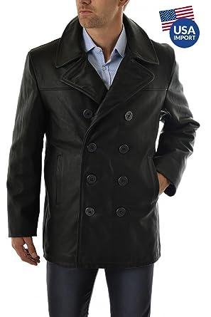 140 M Cuir Vêtements Taille Schott Veste Caban Noir q7xOwxtYFU