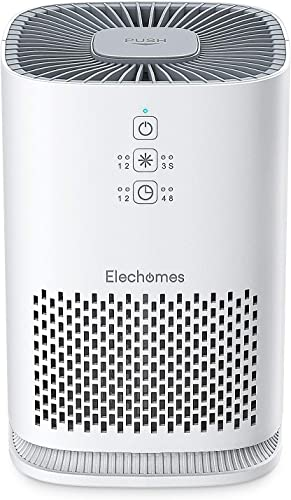 Elechomes Air Purifiers for Home with True HEPA Filter, Air Cleaner Purifier for Allergies and Pets Smokers Pollen Dust, Odor Eliminators for Home Bedroom with Aromatherapy, 215 sq. ft, EPI081