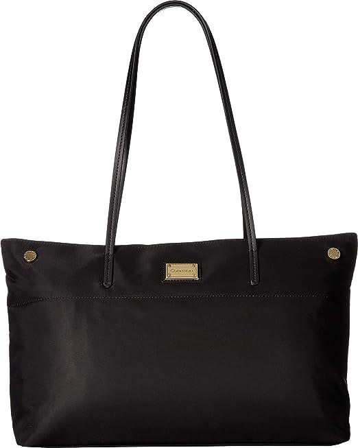 Calvin Klein Calvin KleinH7DBE6XD - cartera con zíper superior Teodora, nailon Mujer, negro (Negro/dorado 2), Talla única: Amazon.es: Zapatos y complementos