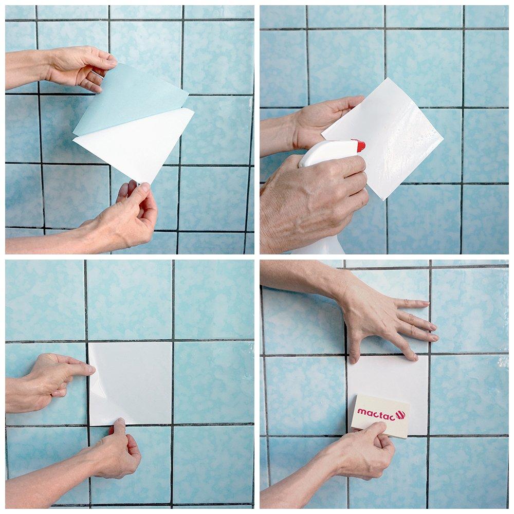 PrintYourHome Fliesenaufkleber für Küche und Bad   einfarbig weiß weiß weiß matt   Fliesenfolie für 20x20cm Fliesen   152 Stück   Klebefliesen günstig in 1A Qualität B071ZGM25V Fliesenaufkleber d79446