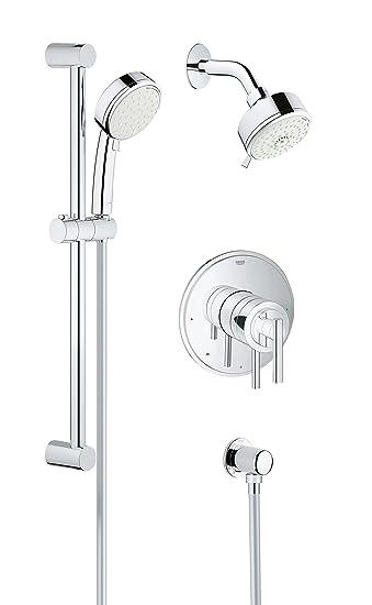 Grohe 35055001 Shower Set Pressure Balance Valve Starlight Chrome