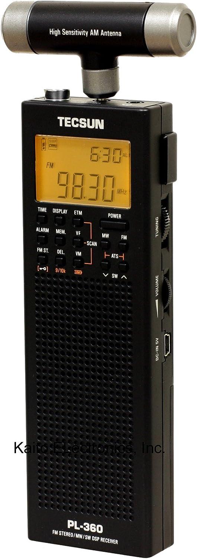 Tecsun PL-360 Digital PLL Portable AM/FM Shortwave Radio with DSP, Black: Home Audio & Theater