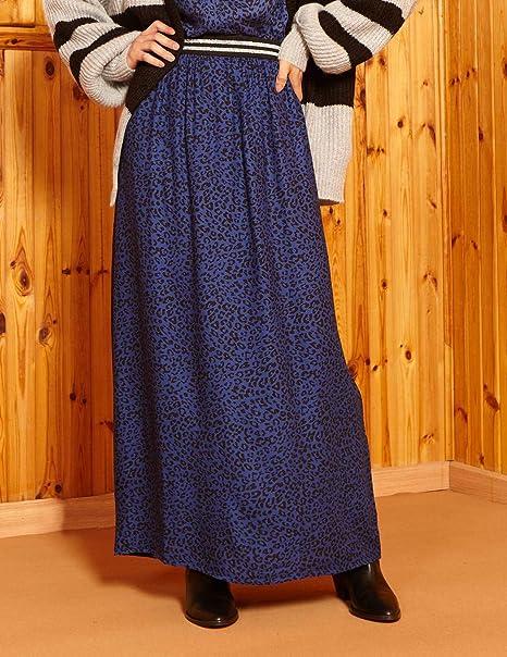 DESIGNERS SOCIETY Falda Animal Print Azul Negro Mujer Small Azul ...