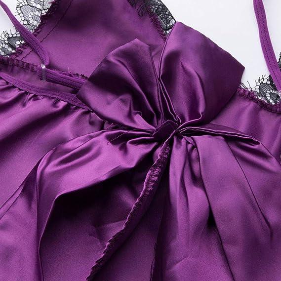 Luckycat Ropa Interior de Navidad, Mujeres Sexy Ropa de Dormir Larga Moda Mujeres Sexy Arco Mullido Cinturón de Piel Ropa Interior Camisón Babydoll Ropa ...