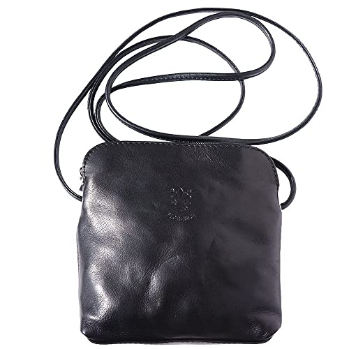 2457dba20cde Mini soft leather unisex cross body bag 8609 (Black)  Amazon.co.uk ...