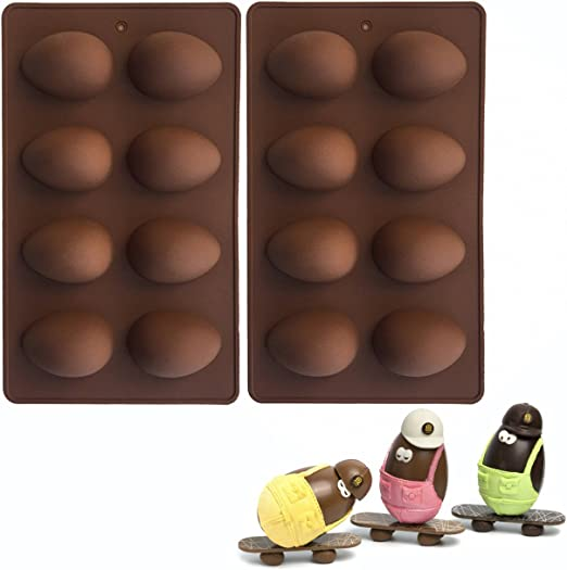 Muffin,Cupcake,Candy Set of 2 Easter Egg Dessert Silicone Baking Molds