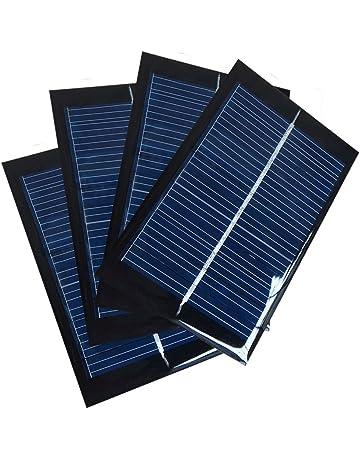 Juego de 4 Piezas NUZAMAS 6V 100mA 90X60mm Micro Mini Células de Panel Solar Para Energía