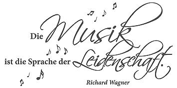 Wandtattoo Spruch Zitat Die Musik Ist Die Sprache Der