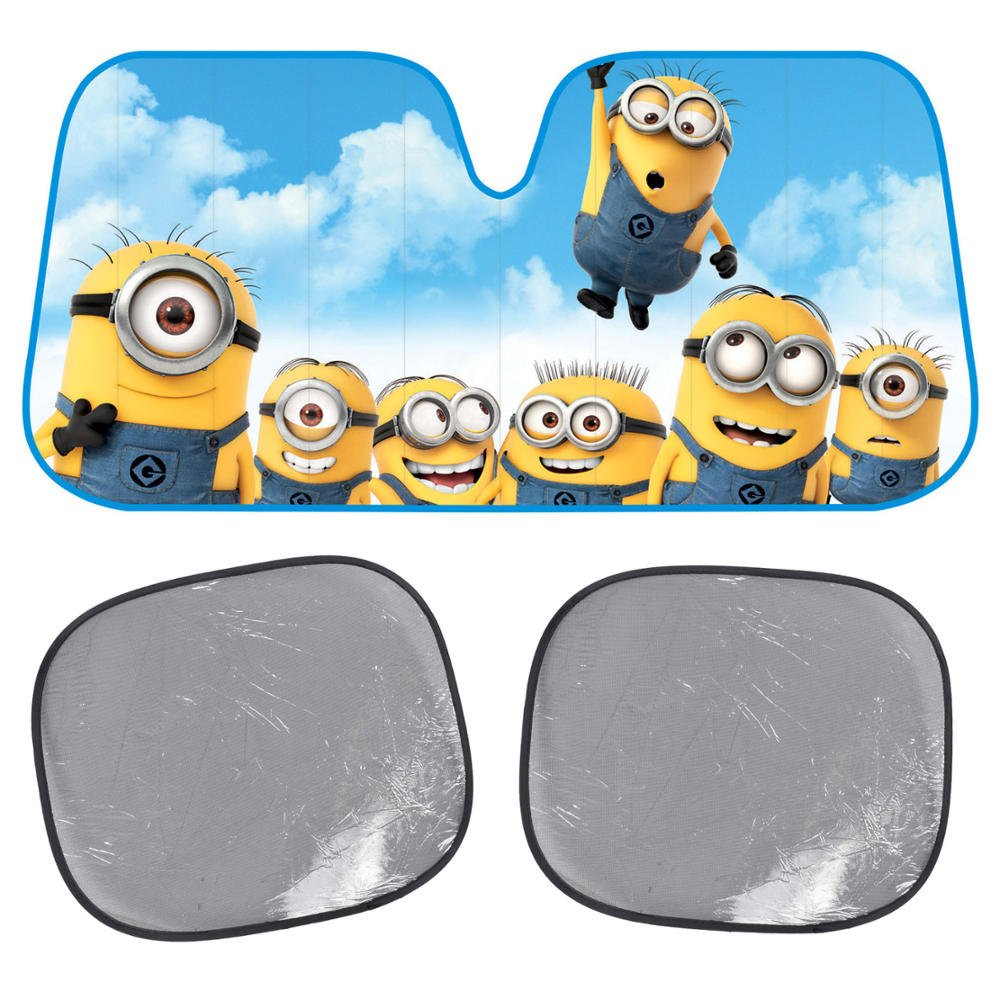Amazon.com: Custom Auto Crews - Despicable ME Sunshade - Ohana Minions - Folding Accordion with Anti Glare Sun Shade: Health & Personal Care