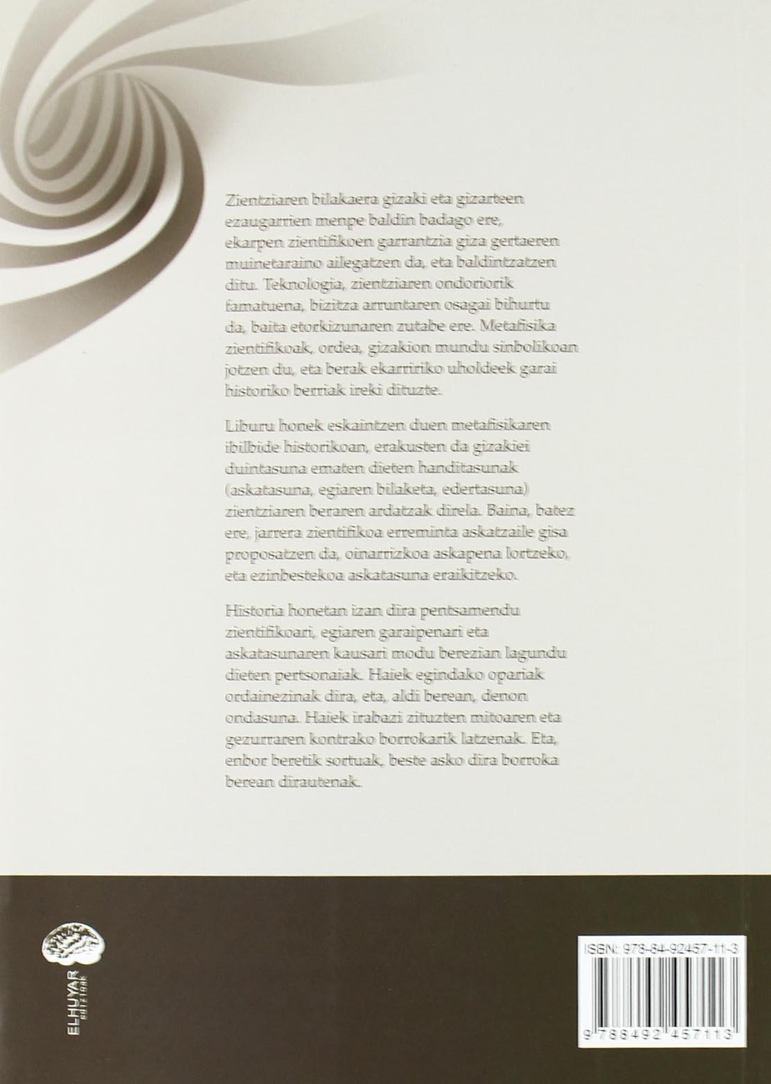 Fisika Eta Metafisika - Denaren Zergatiaren Bila: Amazon.es ...