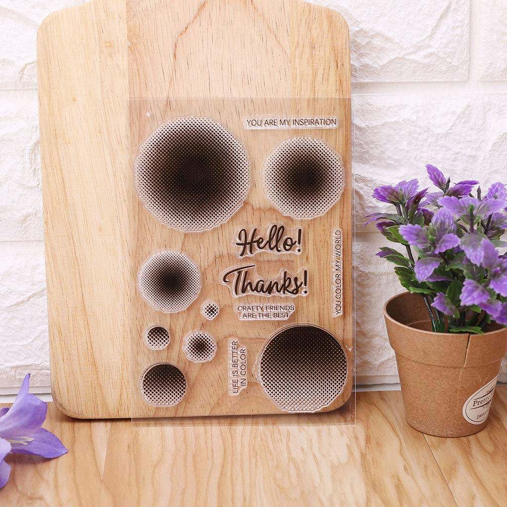 Rongzou Silicone Stamp Blotch Seal DIY Art Embossing Photo Album Decorative Paper Card Crafts