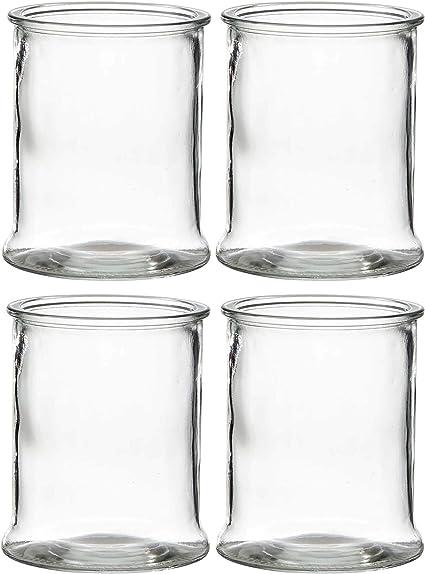 Vasen Kerzenhalter Annastore 6 x Windlichter aus Glas Vintage Glaszylinder H 14 cm oder H 17 cm 4 St/ück H17 cm Kerzenwindlicht Zylinder Glaswindlicht Kerzengl/äser