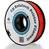 3D Solutech See Through Red 3D Printer PLA Filament 1.75MM Filament, Dimensional Accuracy +/- 0.03 mm, 2.2 LBS (1.0KG)
