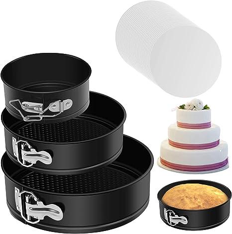 3pcs Springform Pan Premium Non-stick Cheesecake Round Detachable Cake Bakeware