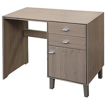 kolding effet pierre coiffeuse table console 2 draw 1 porte chambre coucher bureau