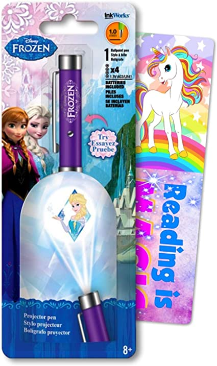 Disney Frozen Elsa - Bolígrafo con proyector de clic, incluye 1 ...