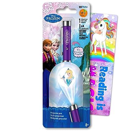Disney Frozen Elsa - Bolígrafo con proyector de clic ...