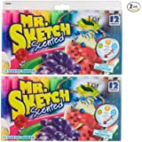 Mr. Sketch Assorted Scent Markers 12 Pack (20072)(2 Pack)