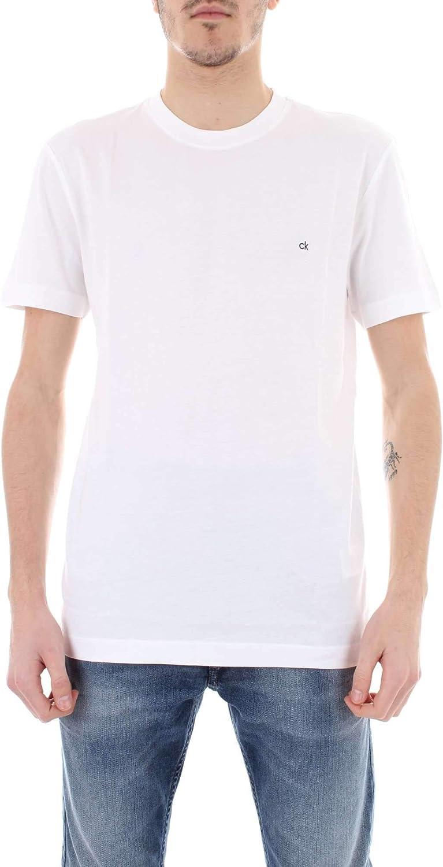 Calvin Klein CK gift Sales results No. 1 Embroidered Logo T-Shirt Men's Perfec Crew-Neck