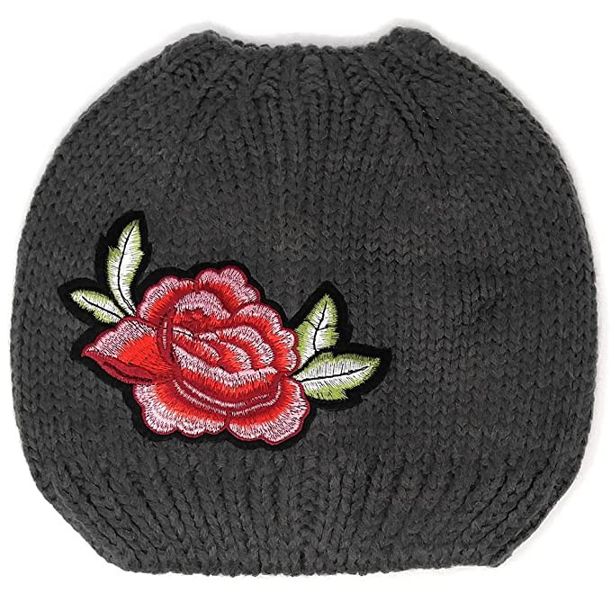 Messy Bun Beanie for Women Small 184347a2f2c