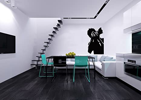 Photographer with Camera Decor Photo Photography Studio Wall Vinyl Decal  Art Sticker Home Modern Stylish Interior Decor for Any Room Smooth and Flat  ...