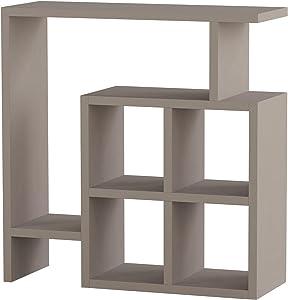 Ada Home Décor Smith Side Table, 22'' x 22'' x 8'', Light Mocha
