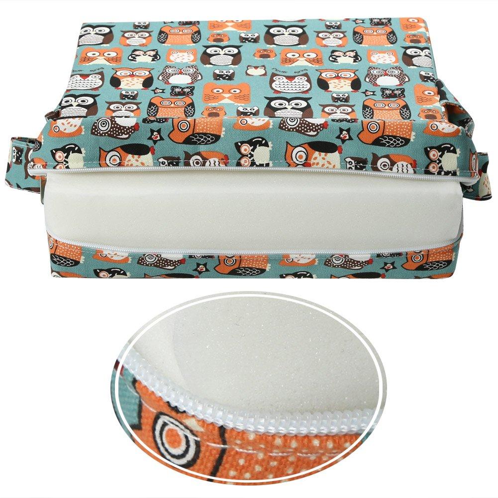Zicac Sitzerh/öhung Tiere-Muster Tragbare Sitzerh/öhung Kinder Seat Pad Blau