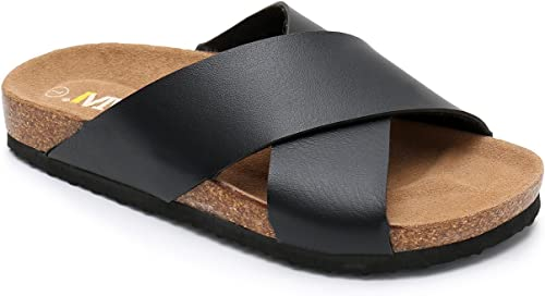 Women Cork Sole Suede Sandals Ankle Strap Summer Beach Flip Flops Slippers Shoes