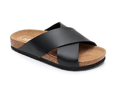 28eb7365c034 Women Leather Sandals Arizon Slide Shoes (US 6
